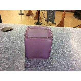 Short square purple Vase (7/31/18)