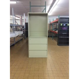 """18x36x83 1/4"""" Bookcase/3 drawer Lateral File 12/4/18"""