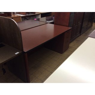 "36x72x29"" Cherry Wood R Ped Desk (8/9/18)"