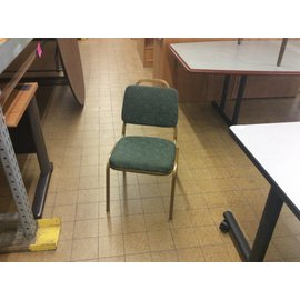 Metal Gold Frame Green Padded Side Chair (8/15/18)