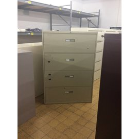 "18x36x52 1/2"" 4 Drawer Beige Lateral File (8/15/18)"