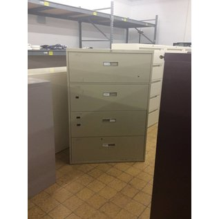 """18x36x52 1/2"""" 4 Drawer Beige Lateral File (8/15/18)"""