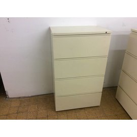 """19 1/2x29 3/4x49 1/2"""" Beige 4 drawer lateral file cabinet (8/29/18)"""