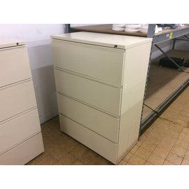 """19 1/2x35 3/4x49 1/4"""" Beige 4 drawer lateral file cabinet (8/29/18)"""