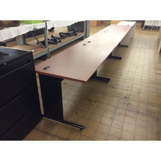 "30x60x30"" Woodtop Metal leg computer Table (8/29/18)"