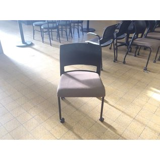 Brown padded Stacking Chair on Castors (8/30/18)