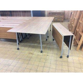 "47 1/2x47 1/2x29 1/4"" Wood folding work table on castors (9/13/18)"