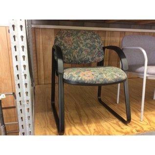 Flower pattern sled base side chair (9/10/18)
