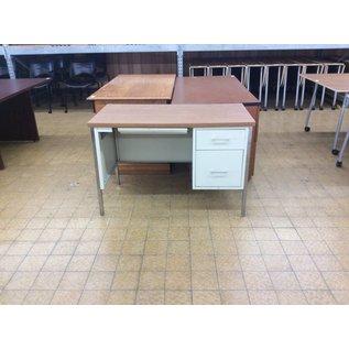 "24x45 1/4x30"" R Pedestal Beige Metal Desk (9/11/18)"