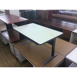 "29x48x25 1/2"" Metal Leg Computer Table (9/13/18)"