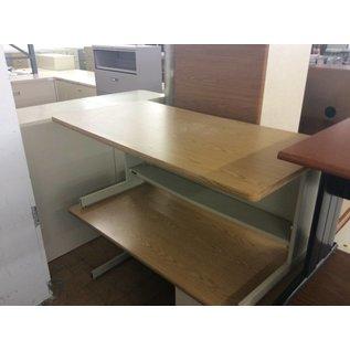 "30x60x27"" beige metal table (9/13/18)"