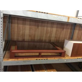 """34x55 1/2x8"""" Table/Wall Mount  Wood And Glass Display Case (9/14/18)"""