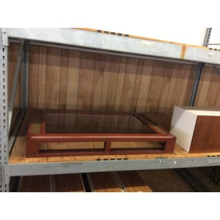 """34x55 1/2x8"""" Table top/Wall Mount Wood And Glass Display Case (11/8/18)"""