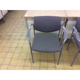 Brown pattern metal frame side chair (9/20/18)