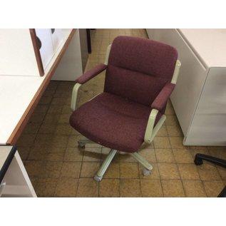 Maroon desk chair w/arms & castors (9/20/18)