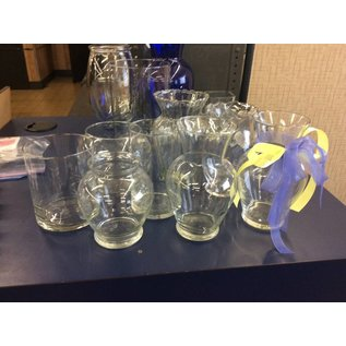Medium Glass Vases various shapes (9/24/18)