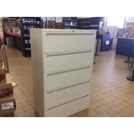 "18x36x55 1/4"" beige 5 drawer Lat. File"