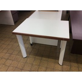 "25x36x28 3/4"" White wood wall table (10/3/18)"