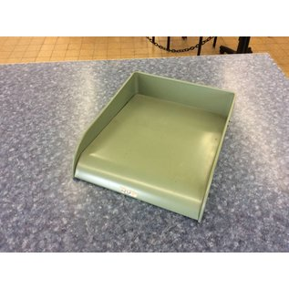Green metal paper tray (10-9-18)