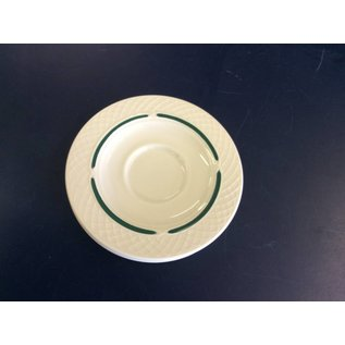 Saucer beige and green set of 6 (10/9/18)