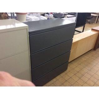 "19 1/2x41 1/2x49 1/2"" Di Gray 4 drawer lateral file cabinet (10/16/18)"