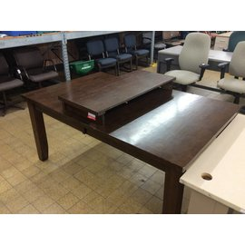 84x42x30 dark wood dinner table 10/16/18
