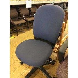 Blue desk chair on castors 10/16/18