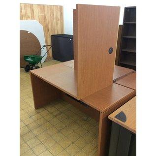 58x60x30 Wood lament L/shape table 11/7/18