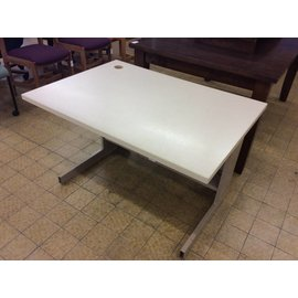"30x42x27"" computer table with metal legs"