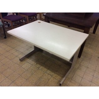 """30x42x27"""" computer table with metal legs (11/7/18)"""