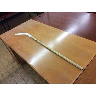 White plastic practice hockey stick (10/17/18)