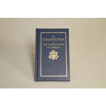 Patriotic HARDCOVER. This beautiful gift edition contains the complete text of the United States Constitution, as well as all of its amendments.