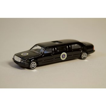 Just for Kids Presidential limousine model made of durable diecast metal with official licensed insignias.
