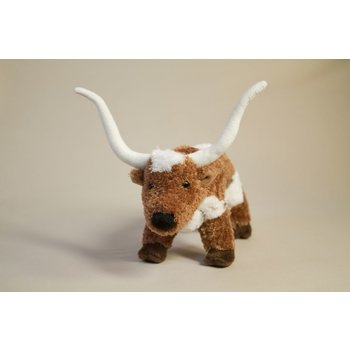 Just for Kids Cuddly longhorn plush with poseable horns! Over 8 inches long. For children 3+.