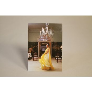 Lady Bird Full color postcard of a portrait of First Lady Lady Bird Johnson at the White House in 1968.