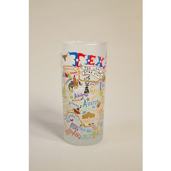 Texas Traditions HAND PAINTED TEXAS GLASS TUMBLER