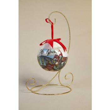 """Texas Traditions Unbreakable ornament depicts a vintage style scene of a Texas cowboy. Reads """"Howdy from Texas The Lone Star State."""""""