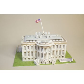 "Just for Kids 3D puzzle of the White House. This puzzle is 64 pieces, dimensions: 11"" x 8.26"" x 7.48"". Ages 10+ recommended."