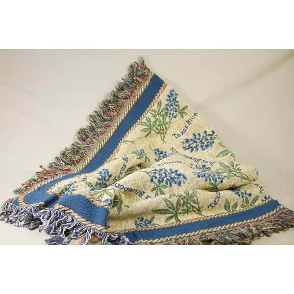 Texas Traditions BLUEBONNET THROW BLANKET
