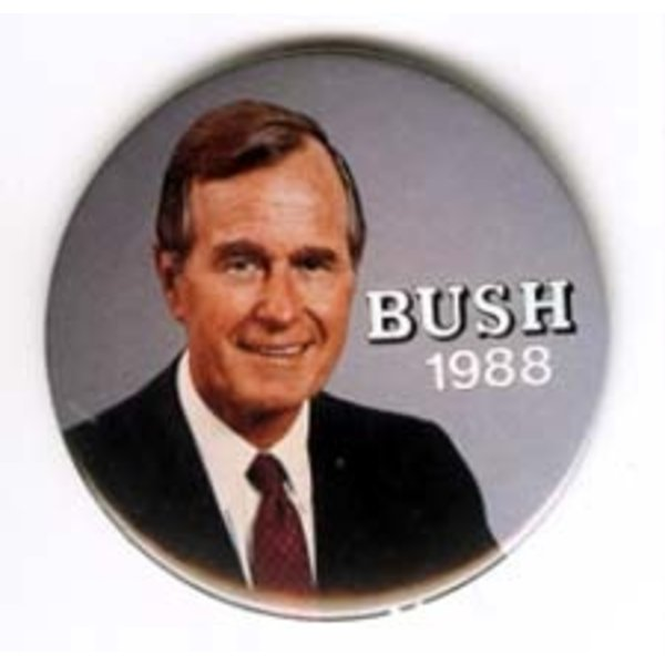 GHW BUSH on GREY SMALL