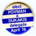 DUKAKIS POVMAN DELEGATE