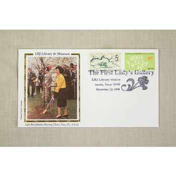 FIRST LADY's GALLERY SPECIAL CANCELLATION 12-22-1998