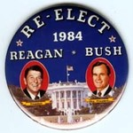 REAGAN BUSH RE-ELECT 84