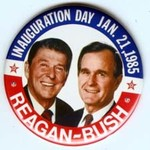 SMALL *REAGAN BUSH* INAUGURATION DAY