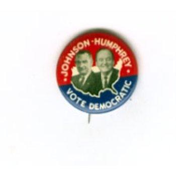 VOTE DEM JOHNSON HUMPHREY BUTTON