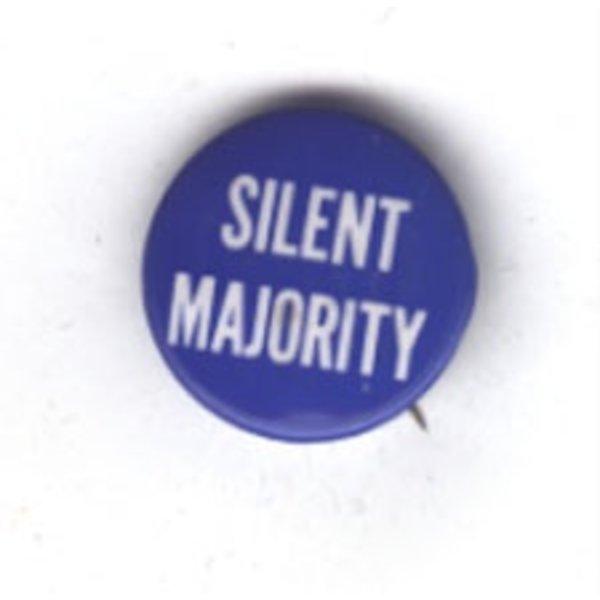 NIXON SILENT MAJORITY - original Anti Vietnam button