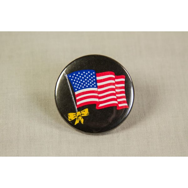 DESERT STORM BLACK FLAG BUTTON