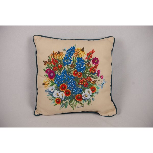 Lady Bird TEXAS WILDFLOWER PILLOW