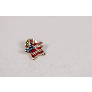 Patriotic PUFFED RED, WHITE AND BLUE STAR TAC
