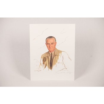All the way with LBJ SIGNED LIMITED EDITION  SHOUMATOFF PRINT of LBJ PORTRAIT